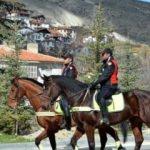 Beypazarı'na atlı polis ekibi