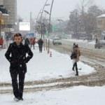 Erzurum'dan karlı 1 Nisan şakası