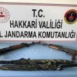 Hakkari kırsalında silah ele geçirildi