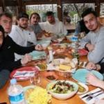 Trabzonspor'da futbolcular yemekte buluştu