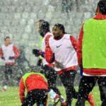BB Erzurumspor hayati maça kar altında hazırlanıyor
