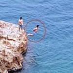 Denizde kelepçeli ölüm oyunu!