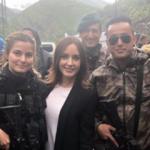 Nazlı Çelik Yüksekova'daki asker ve polislerle bir araya geldi!