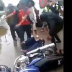 Motosiklet çalan hırsıza meydan dayağı!