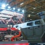 Zırhlı araçlara hibrit motor ve batarya