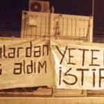 Bursaspor taraftarından pankartlı protesto