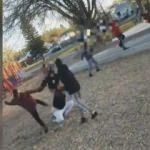 Çocuklar parkta dehşet saçtı! Kendilerini uyaran kadına saldırdılar