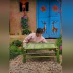 Bambu ağacından sandalye yaptı