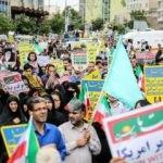İran sokaklara döküldü: 'Yüzyılın Anlaşması' protesto edildi!
