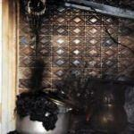Tatlı şerbetini ocakta unuttu, mutfağı yandı
