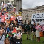 Trump  protestocularını değil destekçilerini 'kalabalık' buldu!