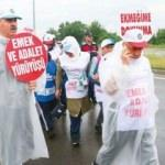 İşçilerin adalet yürüyüşü sürüyor