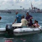 Kadıköy'de tekne alabora oldu
