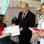Karnesini tedavi gördüğü hastanede aldı