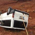 Sivas'ta minibüs devrildi: 10 yaralı