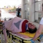 Hamile eşini hastaneye kaldırmak isterken kaza yaptı