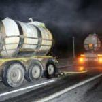 Korkutan kaza: Asit yüklü tanker kaza yaptı