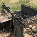 Yayla evindeki yangın yaşlı çifti ayırdı