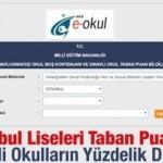 İstanbul Liseleri taban puanları 2019 nitelikli okullar yüzdelik dilimleri