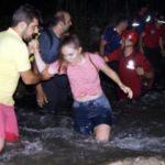 Kanyonda mahsur kalanlar kurtarıldı