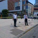 İstanbul'da AVM'de hareketli anlar