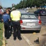 Kazaya giden polis büyük şok yaşadı
