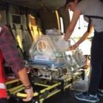 Polis helikopteri Aydan bebek için havalandı