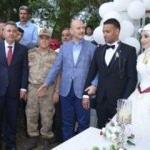 Soylu, Afrin'de görev yapan uzman çavuşun düğününe katıldı