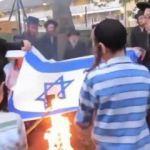 Yahudiler İsrail bayrağı yaktı!