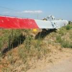 55 metrelik kanadı taşıyan TIR devrildi