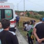 Arnavutköy'de otomobil şarampole yuvarlandı