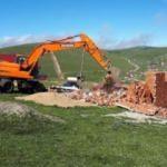 Gümüşhane yaylalarında kaçak yapı yıkımı