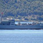 Rus askeri gemisi Çanakkale Boğazı'ndan böyle geçti