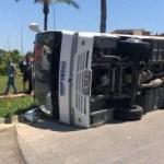 Yolcu otobüsüyle TIR çarpıştı: 6 yaralı