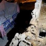Ceylanpınar'da roketin düştüğü ev görüntülendi