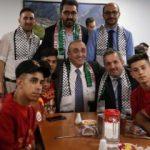 Abdurrahim Albayrak Filistinli futbolcularla bir araya geldi