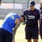 Barcelona'da Messi şoku! İlk idmanda...