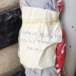 'Polise teslim edin' yazılı çuvaldan lav silahı ile el bombaları çıktı