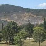Tuzla Piyade Okulu'nda korkutan yangın