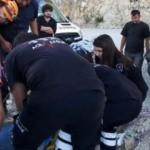 Uçuruma yuvarlanan kadını AFAD kurtardı