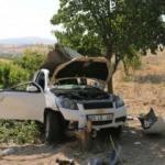 Acı kaza: Yeni evli çift ağır yaralı