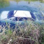 Çalınan otomobil, sulama kanalında bulundu