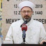 Erbaş'tan Müslüman ülkelere önemli çağrı