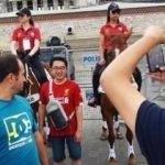İngilizler atlı polislere hayran kaldı
