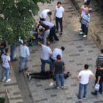 Taksim'i karıştıran kavga! Polis böyle müdahale etti
