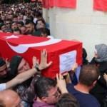 Şehit Akın Çelebi, Trabzon'da son yolculuğuna uğurlandı