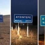 3 farklı tabelada 3 farklı nüfus yazıyor, hepsi de yanlış