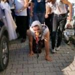 Yok böyle düğün! Damadı bu hale getirdiler