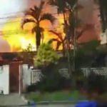 Filipinler'de yüzme havuzuna uçak düştü! 7 ölü
