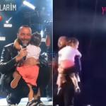 Harbiye'de konser veren Berkay kızı Arya'yla sahneye çıktı!
